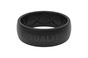 Equality Black/Black - Groove Life Silicone Wedding Rings