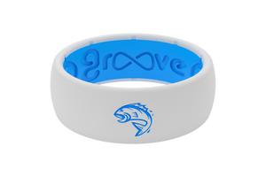 Fin Commander Snow/Blue - Groove Life Silicone Wedding Rings