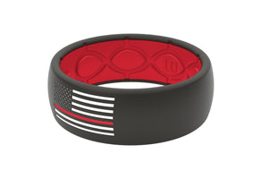Thin Line Fire fighter Silicone Rings - American Flag