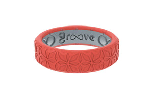 Thin Dimension Firenze - Fiesta - Groove Life Silicone Wedding Rings