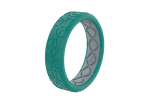 Thin Dimension Firenze - Laguna - Groove Life Silicone Wedding Rings