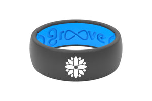 Original Custom Flower Deep Stone Grey/Blue - Groove Life