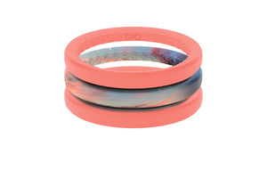 Sunset Stackable - Groove Life Silicone Wedding Rings