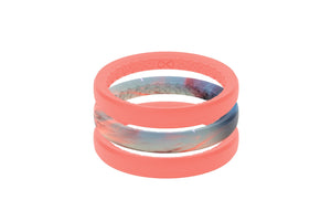Sunset - Stackable - Groove Life Silicone Wedding Rings