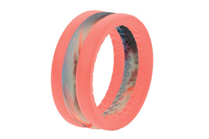 Sunset Wedding Band Groove Life Silicone Ring 02