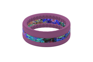 Twilight Blossom Stackable - Groove Life Silicone Wedding Rings