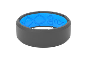 Edge Deep Stone Grey - Groove Life Silicone Wedding Rings