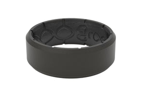 Edge Black/Black - Groove Life Silicone Wedding Rings