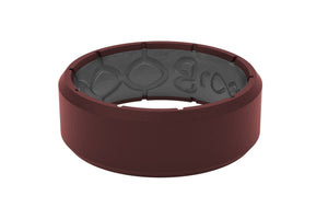 Edge Crimson/Grey - Groove Life Silicone Wedding Rings