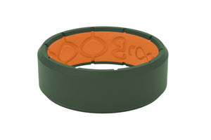 Edge Moss Green/Orange - Groove Life Silicone Wedding Rings