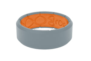 Edge Storm Grey/Orange - Groove Life Silicone Wedding Rings