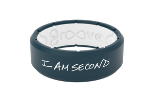 Edge Indigo I Am Second - Groove Life Silicone Wedding Rings