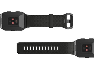 Fitbit Watch Band Ionic Dimension Chevron Black - Groove Life Silicone Wedding Rings