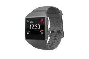 Fitbit Watch Band Ionic Solid Deep Stone Gray - Groove Life Silicone Wedding Rings