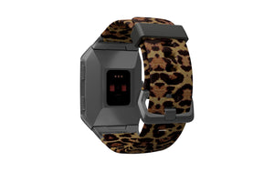 Fitbit Watch Band Ionic Aspire Leopard - Groove Life Silicone Wedding Rings