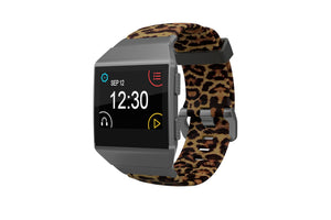 Leopard - Fitbit Ionic Watch Band - Groove Life Silicone Wedding Rings