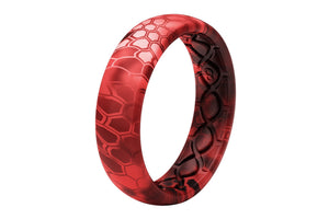 Thin Camo Kryptek Diablo - Groove Life Silicone Wedding Rings