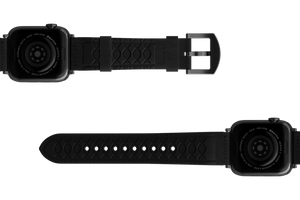 Vulcan Obsidian - Black Apple Leather Watch Band