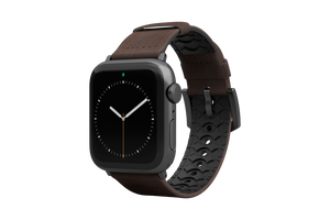 Vulcan Ascent Leather Apple Watch Band Brown/Black - Groove Life