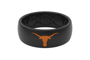 Original College Texas Black/Black/Orange - Groove Life Silicone Wedding Rings