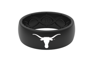 Original College Texas Black/Black/White - Groove Life Silicone Wedding Rings