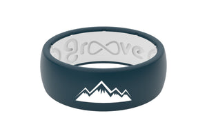 Original Custom Mountains - Groove Life Silicone Wedding Rings