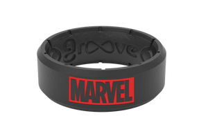 Marvel Logo - Groove Life Silicone Rings