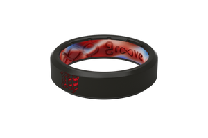 Thin Mayhem Solid Red - Groove Life Silicone Wedding Rings