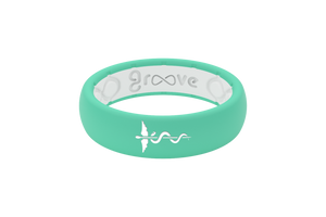 Thin Solid Medical Hero Seafoam - Groove Life Silicone Wedding Rings