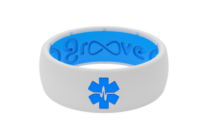 Original Solid Medical Hero White - Groove Life Silicone Wedding Rings