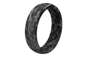 Thin Camo Mossy Oak Elements Agua Blacktip - Groove Life Silicone Wedding Rings