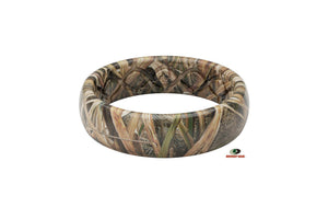 Thin Mossy Oak Blades Pattern Camo Silicone Rings