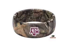 Original College Mossy Oak Texas A&M Logo - Groove Life Silicone Wedding Rings