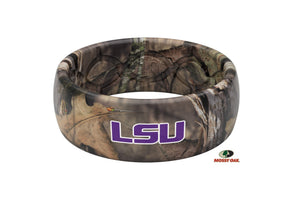 Original College Mossy Oak Louisiana State Logo - Groove Life Silicone Wedding Rings