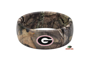 Original College Mossy Oak Georgia Logo - Groove Life Silicone Wedding Rings