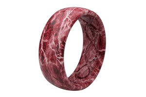 Original Camo Mossy Oak Elements Agua Crimson - Groove Life Silicone Wedding Rings