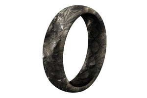 Thin Mossy Oak NRA Overwatch Camo - Groove Life Silicone Wedding Rings