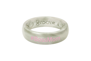 Pearl #BOSSMOM - Groove Life Silicone Wedding Rings