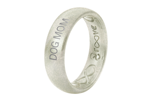 Pearl Dog Mom - Groove Life Silicone Wedding Rings