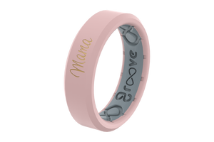 Rose Quartz Mama - Groove Life Silicone Wedding Rings
