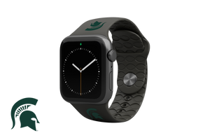 Apple Watch Band College Michigan State Black