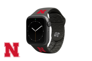 Apple Watch Band College Nebraska Black
