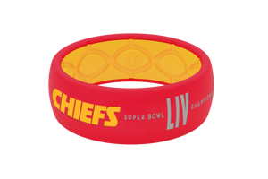 Limited Edition NFL Kansas City Chiefs Super Bowl Fan Ring - Groove Life Silicone Wedding Rings