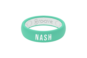 Thin Solid Seafoam Nash - Groove Life Silicone Wedding Rings