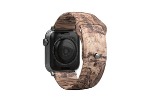 Apple Watch Band Nomad Burled Walnut - Groove Life Silicone Wedding Rings
