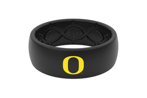 Original College Oregon Black Color Fill - Groove Life Silicone Wedding Rings