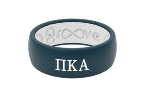 Original Custom Greek Pi Kappa Alpha - Groove Life Silicone Wedding Rings
