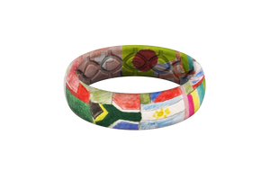 Nations - Thin - Groove Life Silicone Wedding Rings