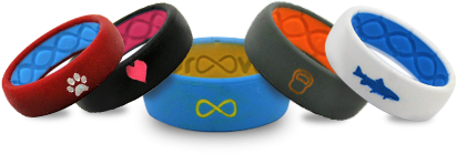 Groove Customized Silicone Rings