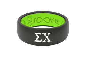 Original Custom Greek Sigma Chi - Groove Life Silicone Wedding Rings